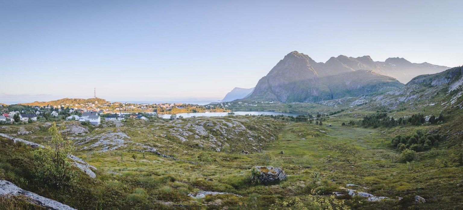 Widok na góry w Sorvagen