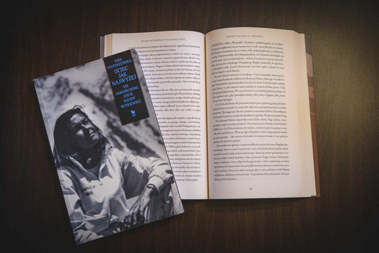 Książki o Wandzie Rutkiewicz