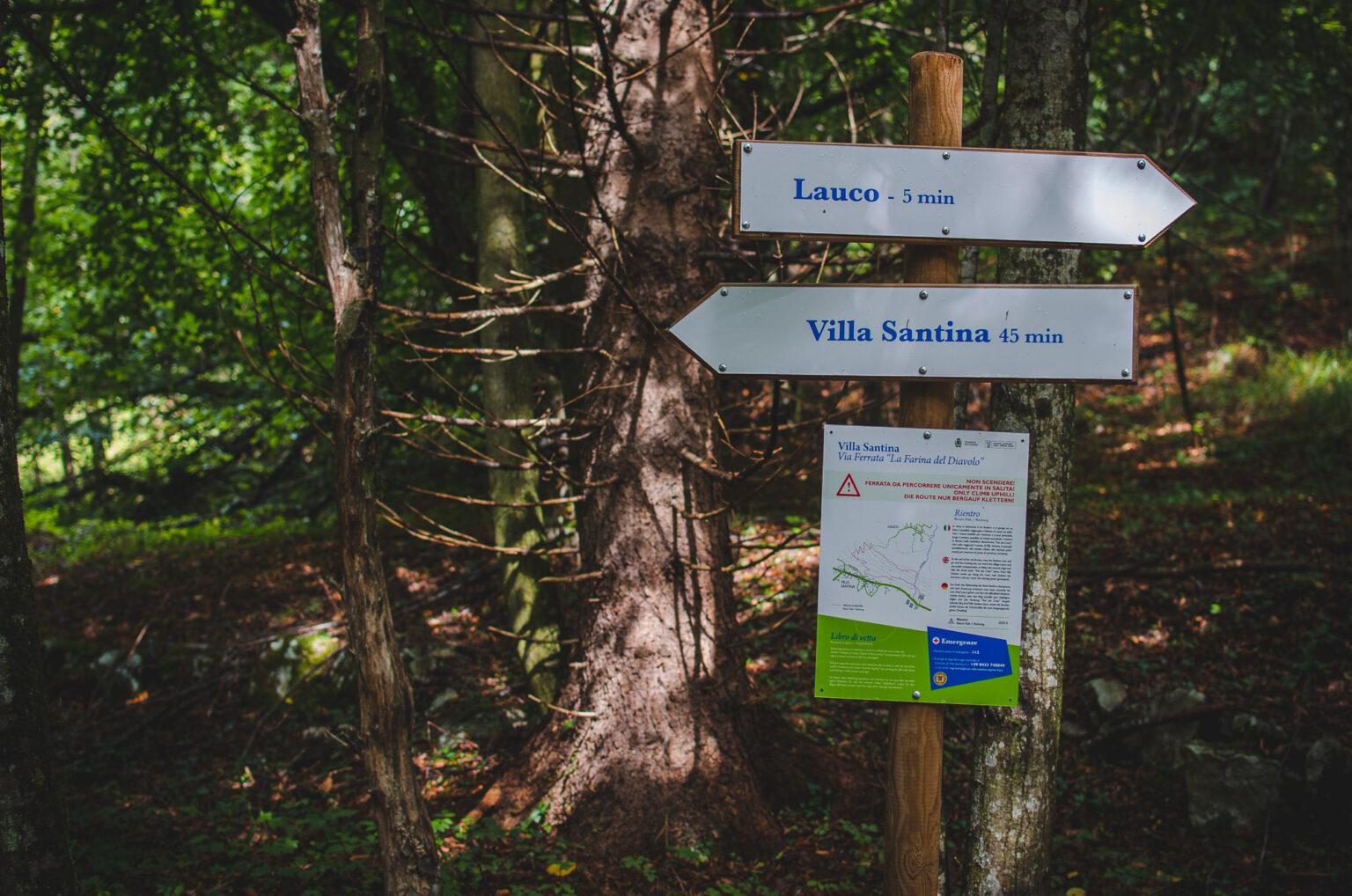 Szlakowskazy do Lauco i Villa Santina