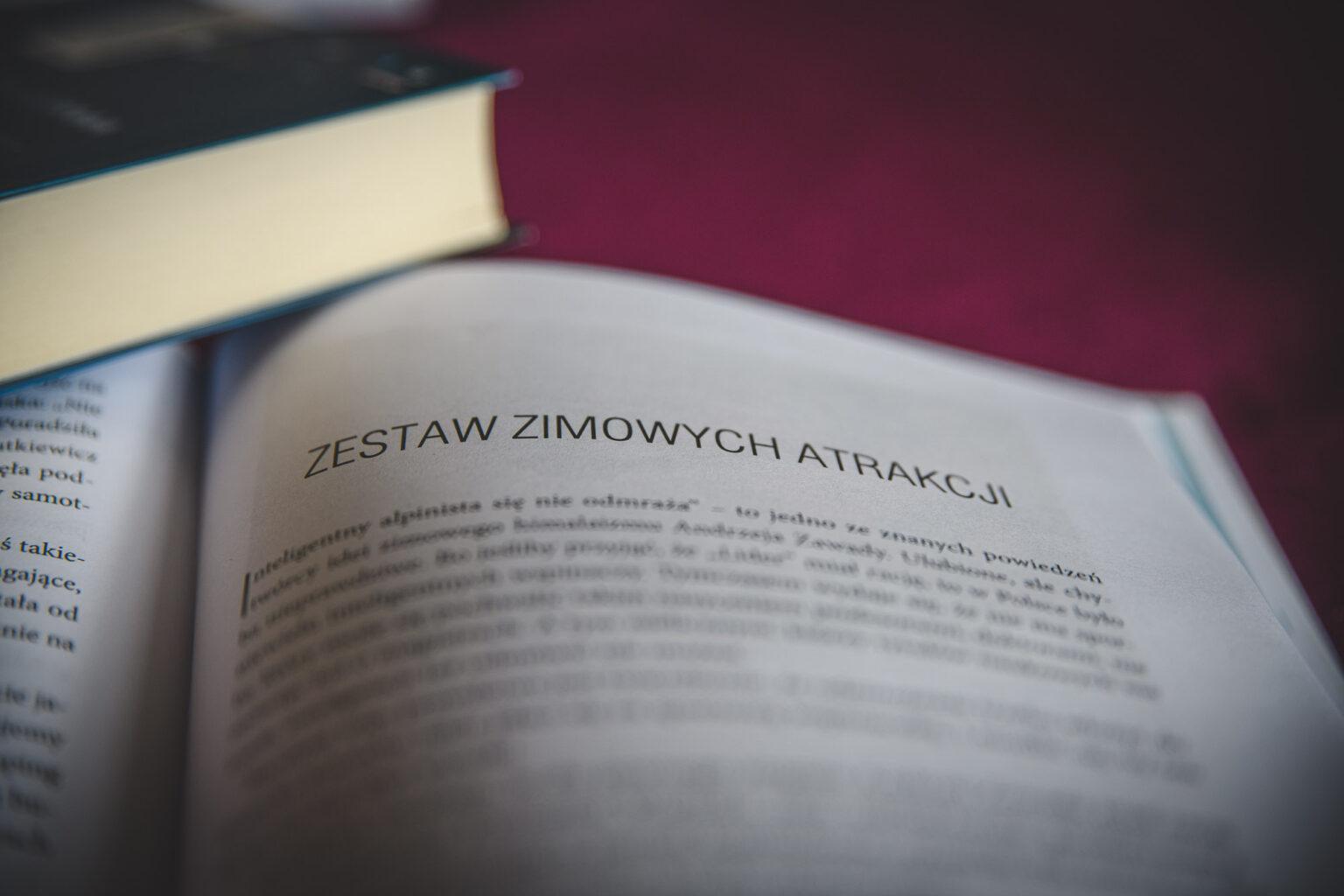 """Rozdział """"Zimowe atrakcje"""" z książki"""