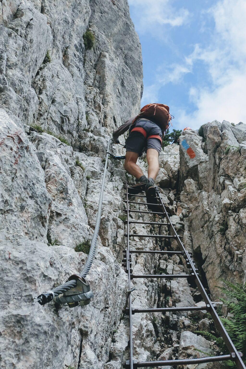 Drabinka na Uberleichterweg Alpy Karnickie