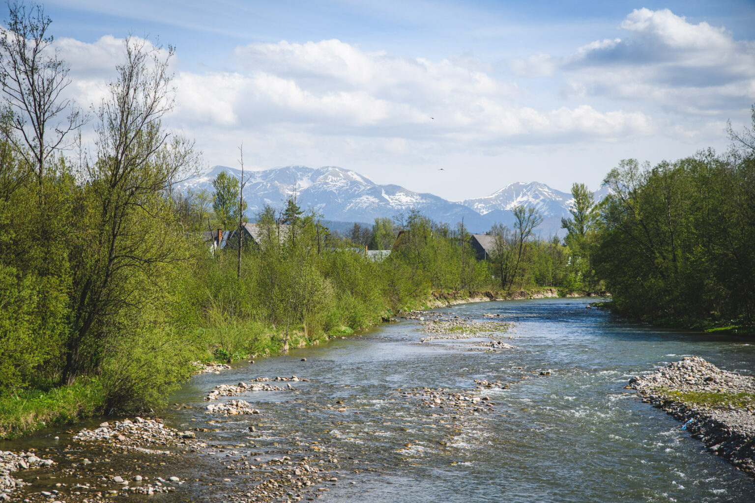 Widok znad Czarnego Dunajca