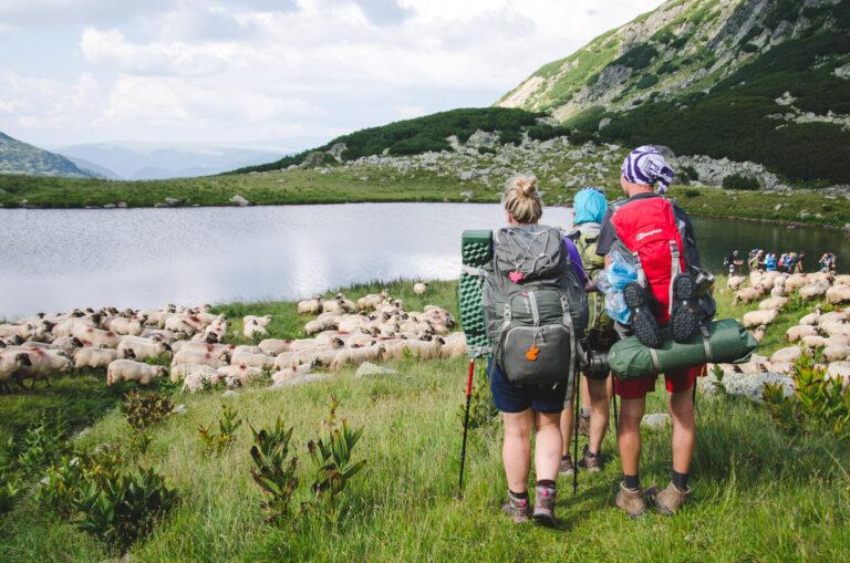 Turyści na trekkingu w Rumunii