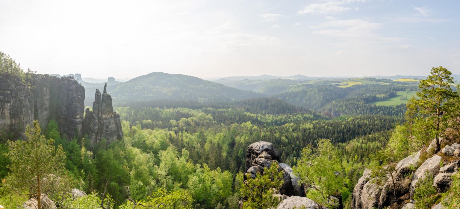 Widok na Góry Połabskie