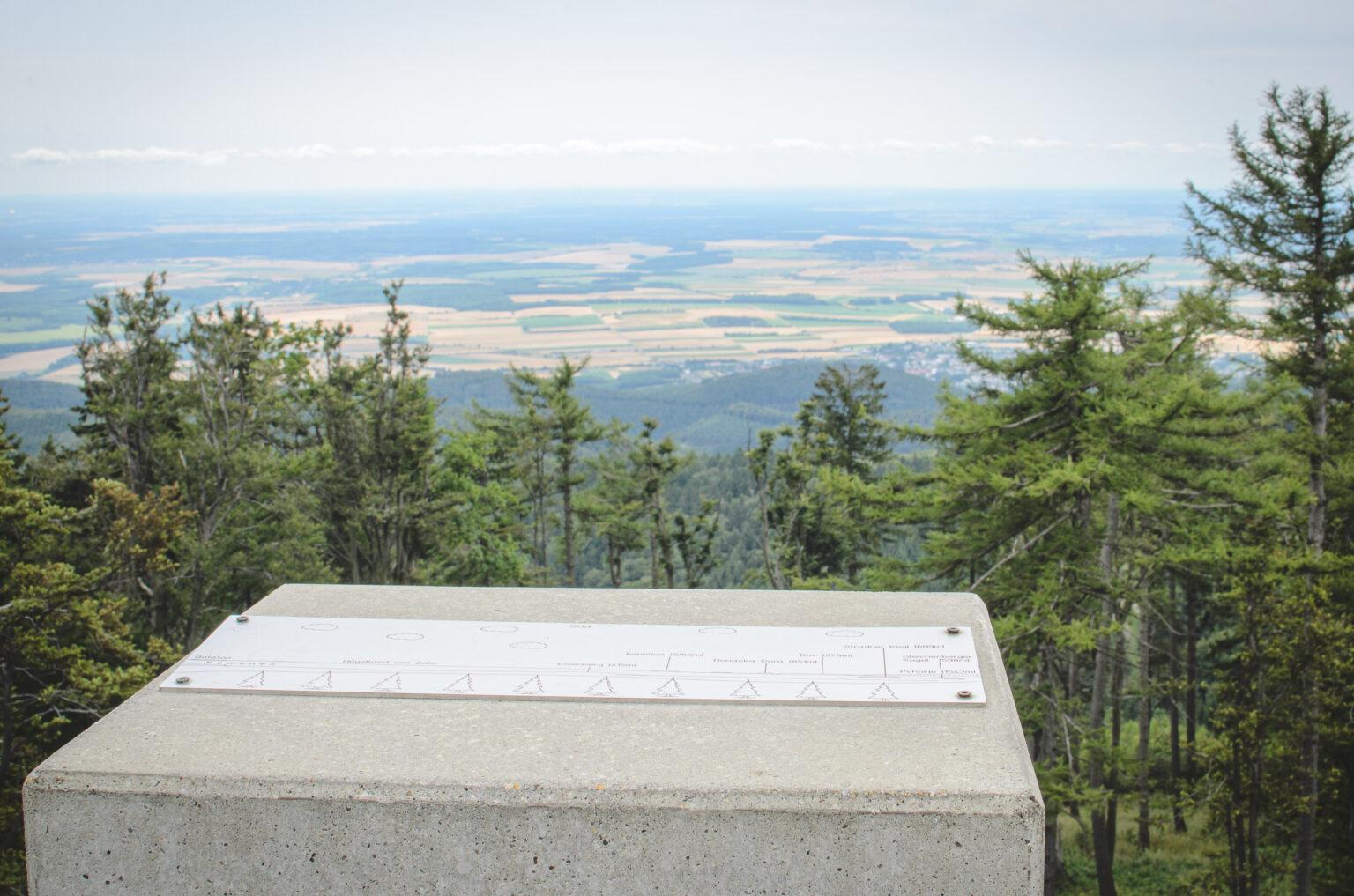 Widok z gór na Węgrzech